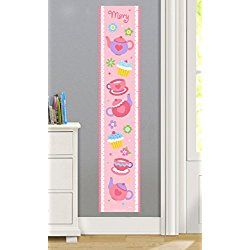 Tea Party Personalized Wall Decal Growth Chart By Olive Kids