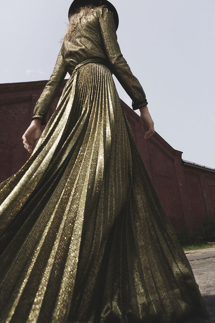 metallic fashion editorial inspiration