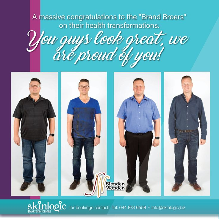 "A massive congratulations to the ""Brand Broers"" on their health transformations. You guys look great, we are proud of you! For more information or bookings please contact info@skinlogic.biz #Slender Wonder #instadaily #bestoftheday #love #health #motivation #beautiful #instagood #aesthetics #SkinlogicSA #SkinHealth #Skin #Inspiration #Weightloss #Inspirational ##beautiful #beauty #girl #model #instahealth #aesthetics #beauty #Veins #LaserTreatment"