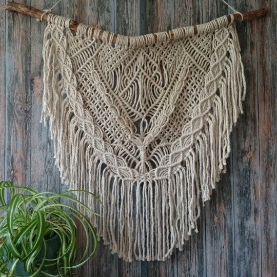 Macrame wall hanging is perfect for a modern style or adding texture to any room.