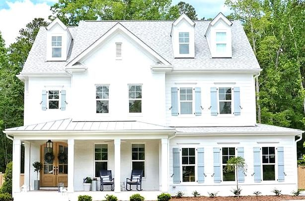 Curb Appeal What A Curb Appeal Isnt It A Home Sweet Home I Love The Painted Brick The Front Porch Wi In 2020 Cottage Style Homes Kitchen Trends Coastal Cottage Style
