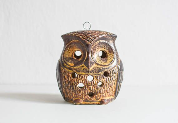 Owl candle holder Owl tealight Owl lantern owl gift owl