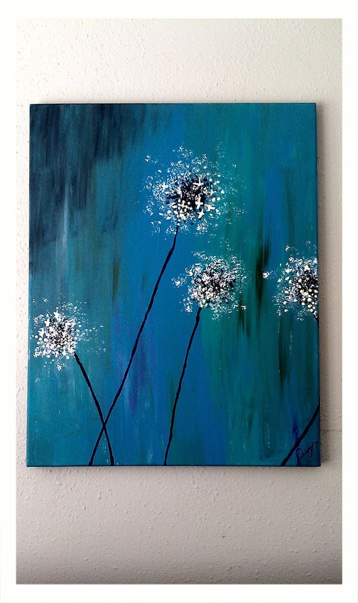 Dandelion Painting. $55.00, via Etsy.