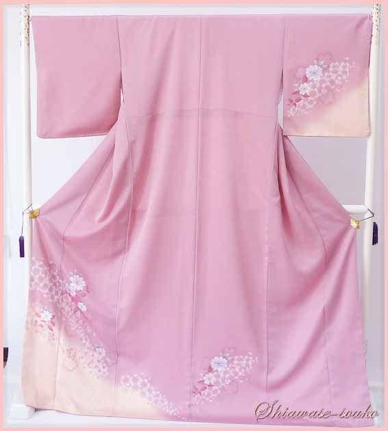【楽天市場】訪問着 レンタル 15点フルセット「ピンク桜」f002:留袖格安レンタルshopしあわせ創庫