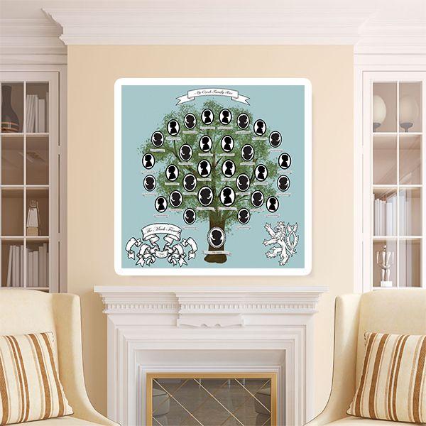 """Rodinný Strom """"Cameo"""" - 5 generací Zašlete mi informace, které chcete do vašeho rodinného stromu zařadit a já vám zašlu strom v digitálním formátu (jpg nebo png) zobrazující vaše kořeny. Na formátu/ rozměrech se můžeme domluvit. Formát mohu upravit na A4, A3 nebo pro tisk plakátu podle vašich požadavku. Tisk si pak můžete obstarat v kterékoliv tiskárně. Je to skvělý ..."""