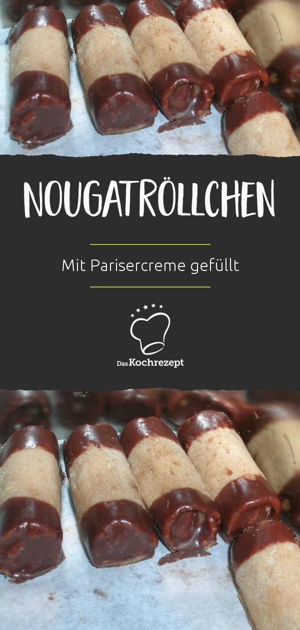 Nougatrollchen Rezept In 2018 Platzchen Platzchen Kekse Und