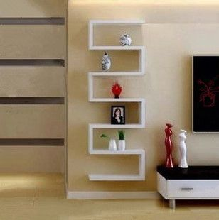 L-shaped wall hanging shelf pallet racks / shelves / TV creative clapboard STB ikea-Taobao