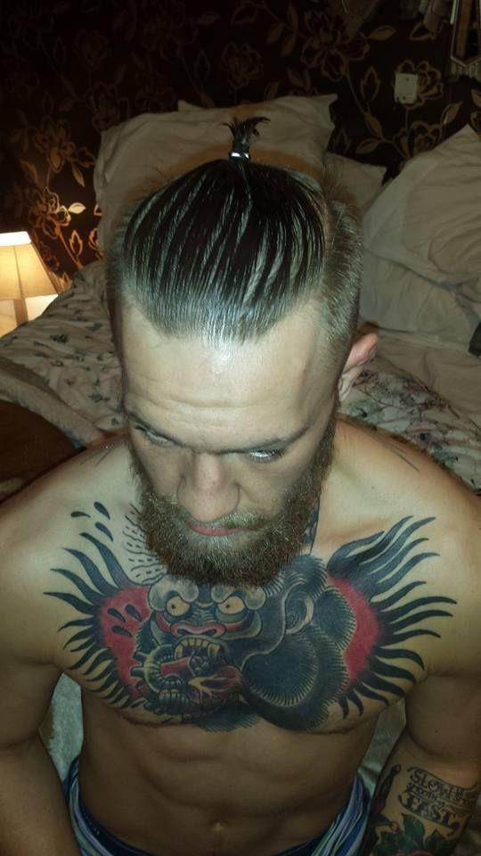 Conor McGregor. Man Bun Inspiration. UFC Champion. Bearded Bandit.