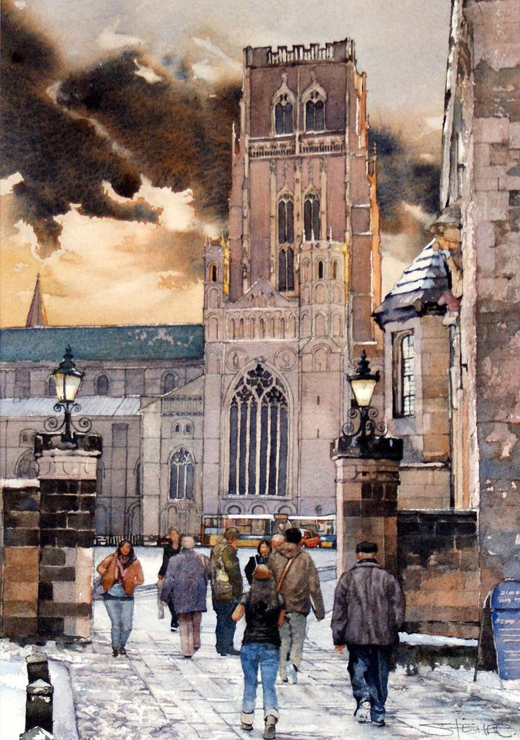 Durham Cathedral from the Castle entrance by Stuart Fisher