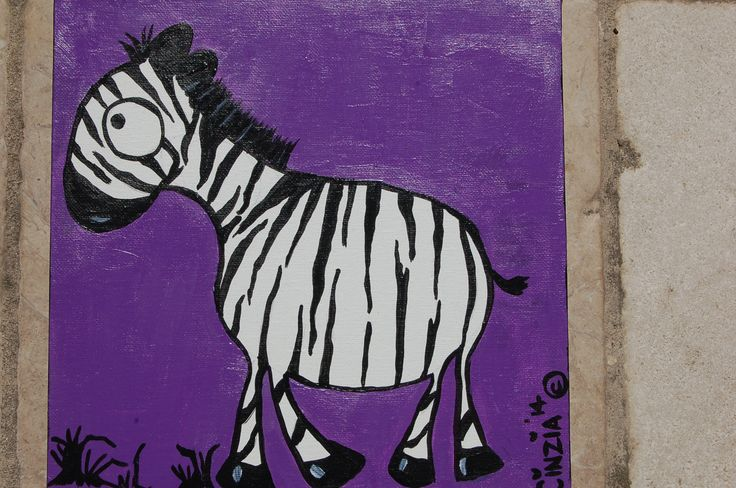 Zebra - acrylic on canvas (2014)