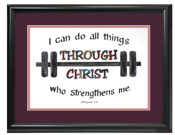 Philipians 4 13 I can do all things by CandysChristianGifts
