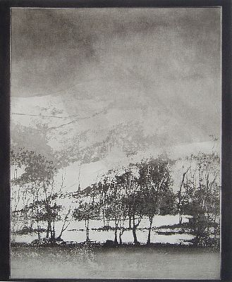 Norman Ackroyd - 'Cartmel in Winter' - DAVID CASE FINE ART