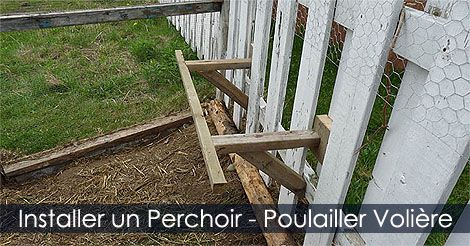 Perchoir Poulailler - Installer un Perchoir dans un Poulailler ou dans une Volière - Hauteur pour installer un perchoir. Instructions : http://www.jardinage-quebec.com/guide/construire-un-perchoir/perchoir-poules-4.html