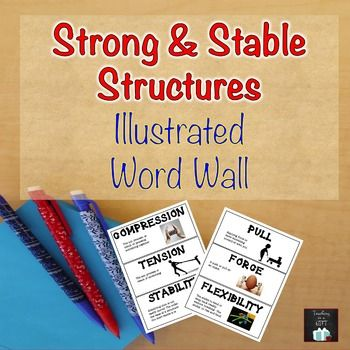 Strong and Stable Structures EDITABLE Illustrated Word Wall
