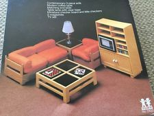 Vintage TOMY Dollhouse Contemporary Living Room Sofa Set New In Box