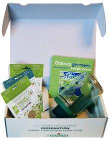 Graines à germer et germoirs : coffret découverte