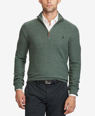 Polo Ralph Lauren Men's Half-Zip Sweater - Polo Ralph Lauren - Men - Macy's