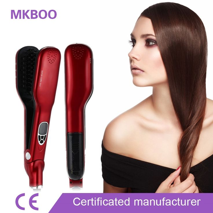 (42.99$)  Watch here - http://aillu.worlditems.win/all/product.php?id=32795750102 - 2017 Newest Magic Hair Straight Steam Comb Hair Straightener Brush Electric Steampod Straight Hair Comb Straightener Iron