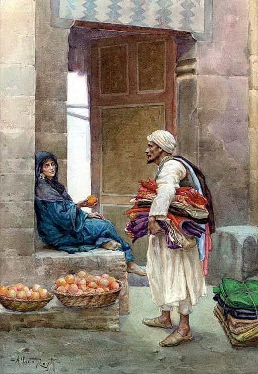 The Orange Seller , Cairo By Albert Rosati - Italian, 1893-1971