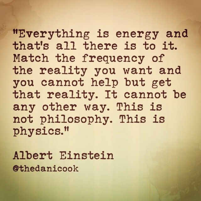 Albert Einstein quote about energy and vibrations thanks to Bing images