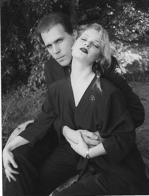 "Zeena and Nikolas Schreck together in black. (""Father gonna` take your daughter out tonight... gonna` show her my World."")"