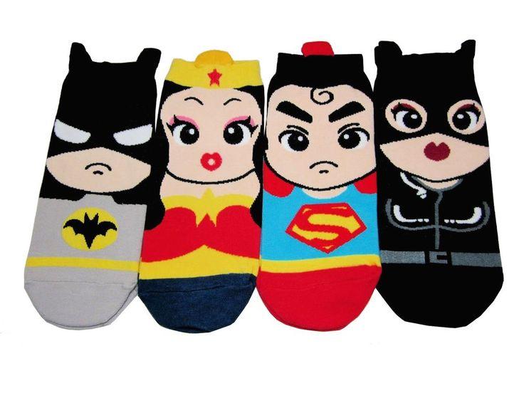 Mini Hero Character Socks 4 Pairs Color Women Kid Cute Sneakers Funny Novelty #GGORANGNAE #Casual