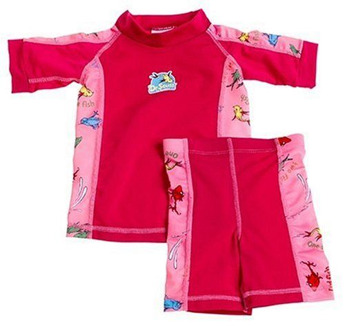Dr. Suess 2-Piece Sun Protective Swimwear Set - Pink & Magenta: 12-18 Months #Bumkins #Baby_Product
