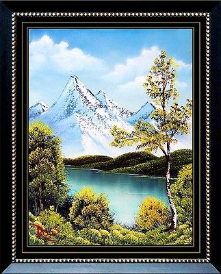 Authentic Original Bob Ross Oil Painting On Canvas