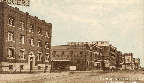 """#TBT Here's a little about the history of our building in #Saskatoon: Campbell Wilson Millar Building 261 - 1st Avenue North, Saskatoon, SK Constructed in 1910, the Campbell Wilson Millar Building, named after the Campbell Brothers and the Wilson Company, became home to a wholesale grocery company. First established in Winnipeg in 1882, the grocery company """"Sutherland and Campbell"""" was founded by ... See More"""