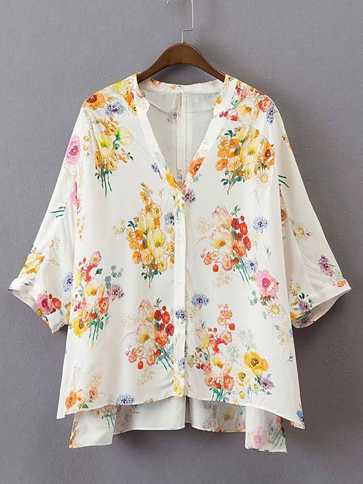 Shop Split Side High Low Smock Top online. SheIn offers Split Side High Low Smock Top & more to fit your fashionable needs.