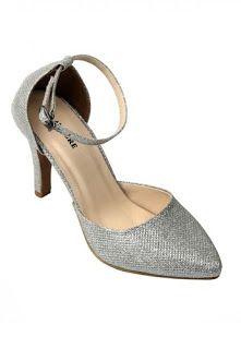 Jual sepatu wanita murah dan berkualitas: CLAYMORE Sepatu High Heels BB-703 Silver