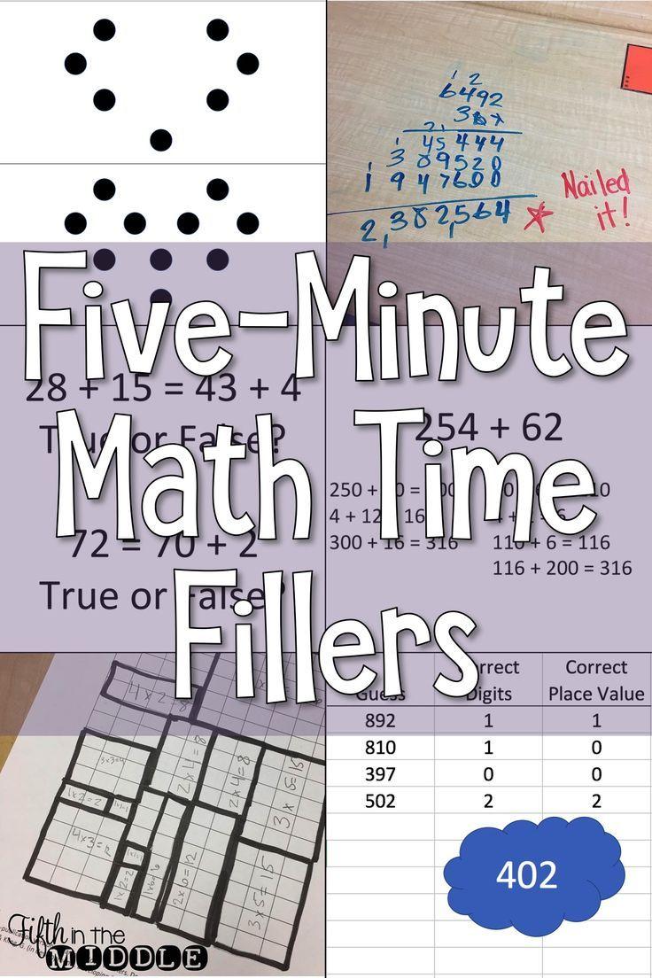 Five Minute Math Fillers Math Time Math Math Resources [ 1104 x 736 Pixel ]