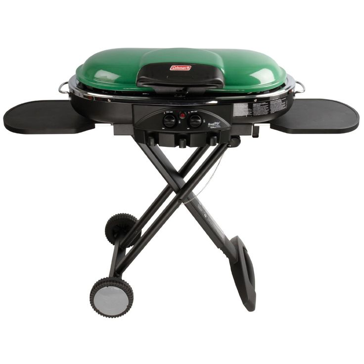 Portable Road Trip 2 Burner Outdoor Camping Kitchen Tailgating Propane BBQ Grill