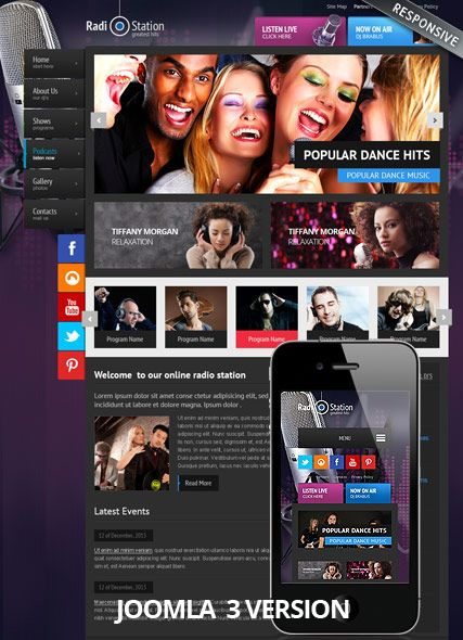 19 best images about music website templates on pinterest radios studios and music bands. Black Bedroom Furniture Sets. Home Design Ideas