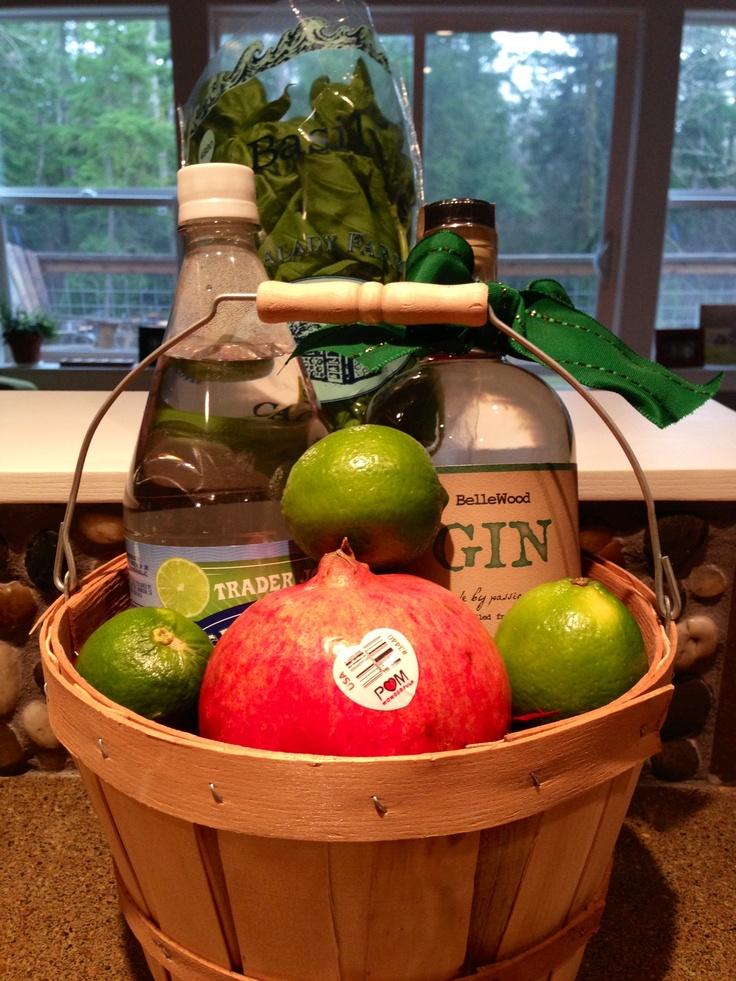 Gin Tonic Gift Basket Include A Bottle Of Gin Tonic Or