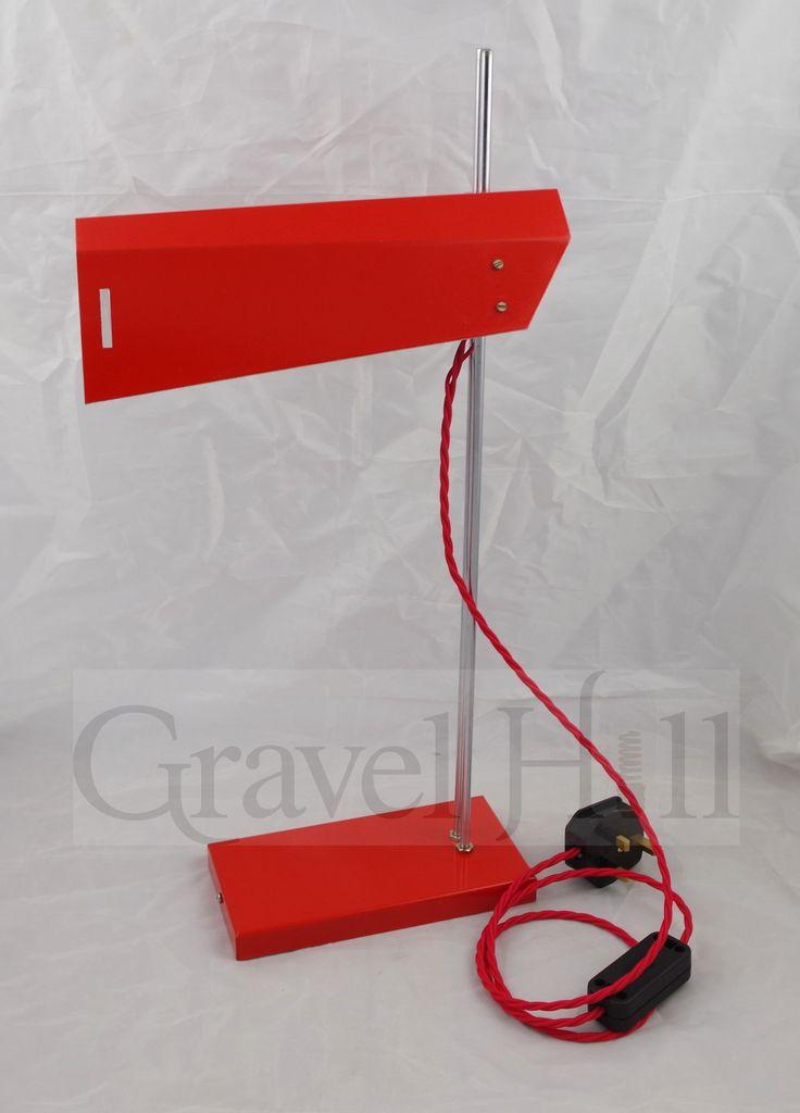 Original Lidokov Desk Light In Red c1960s