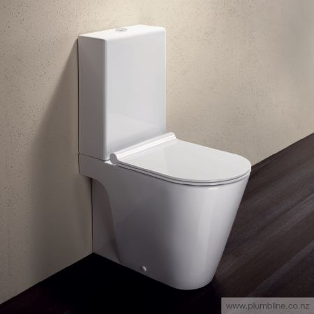 Zero 62 Back To Wall Toilet Suite With Slim Seat - Toilets & Bidets…