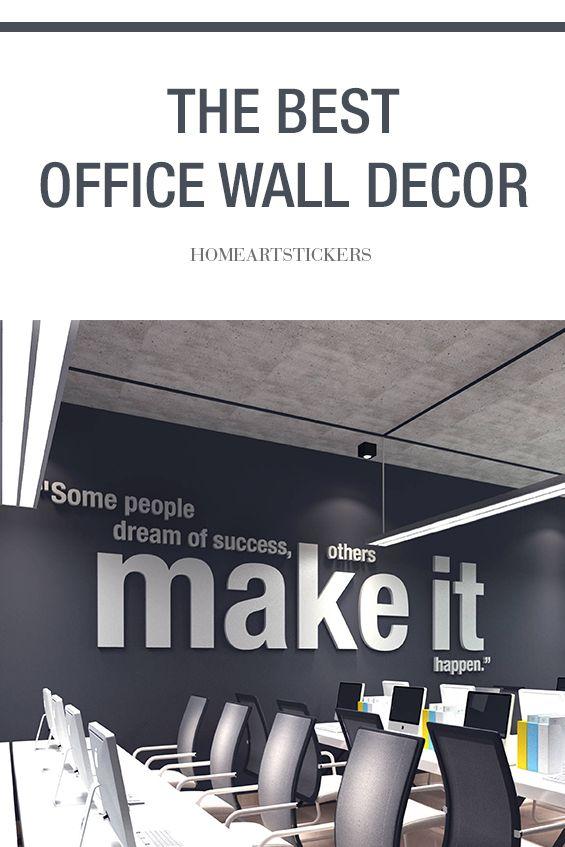 Make It Happen Motivational Quotes Office Decor In 2020 Office Wall Decor Office Wall Art Office Decor