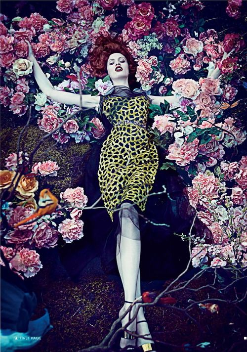 Hothouse Flowers I US Vogue I January 2013 I Models: CarolynMurphy, KarenElson