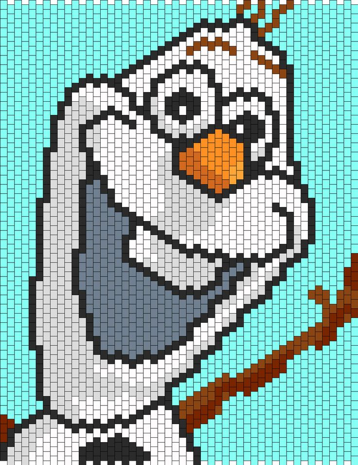 olaf from frozen | Home » Patterns » Characters » Olaf From Frozen // Crochet Graphagan pattern