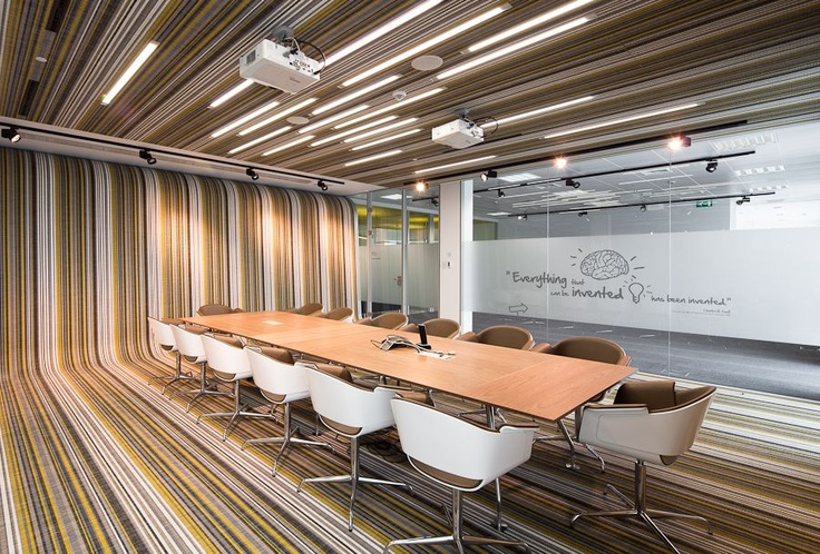 This is so cool... Bolon BOTANIC Lotus... and it goes up the wall!  {Fraunhofer Headquarters designed by Pedra Silva Architects http://www.pedrasilva.com} Check out the whole line of colors now.