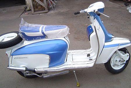 Restored Lambretta Scooter