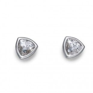 Oliver Weber Women white trilli earrings with Swarovski Crystals