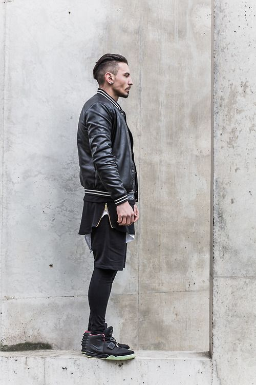 Undercut 215 Leather Jacket 215 Shorts Streetwear Style