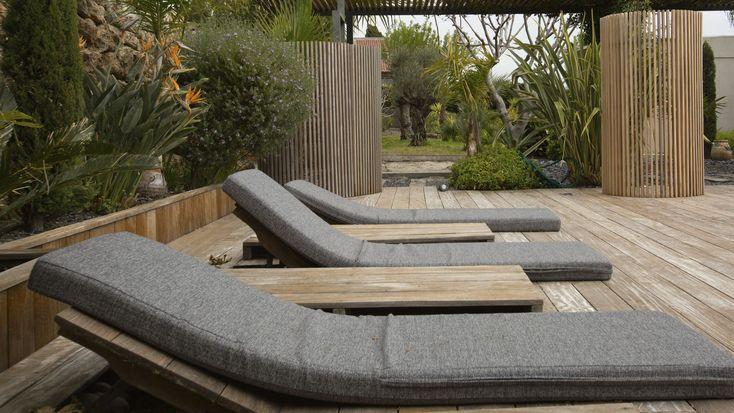 Claustra en bois / de terrasse / de jardin / sur mesure - KIT-KURLY