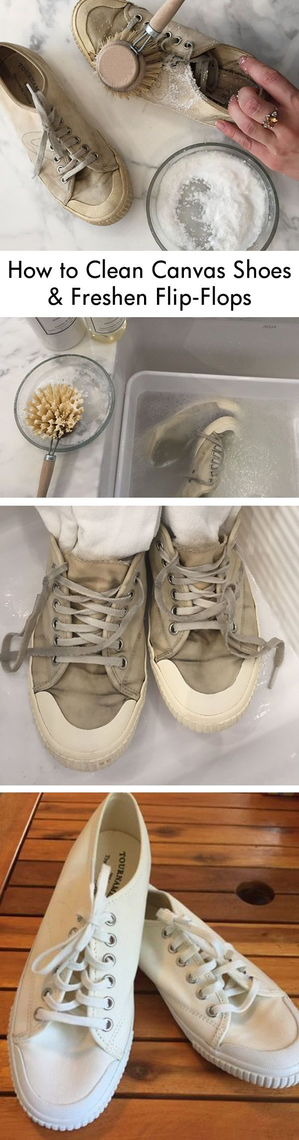 Fall Laundress List Step 2 - Clean Summer Shoes. With trips to the beach and…
