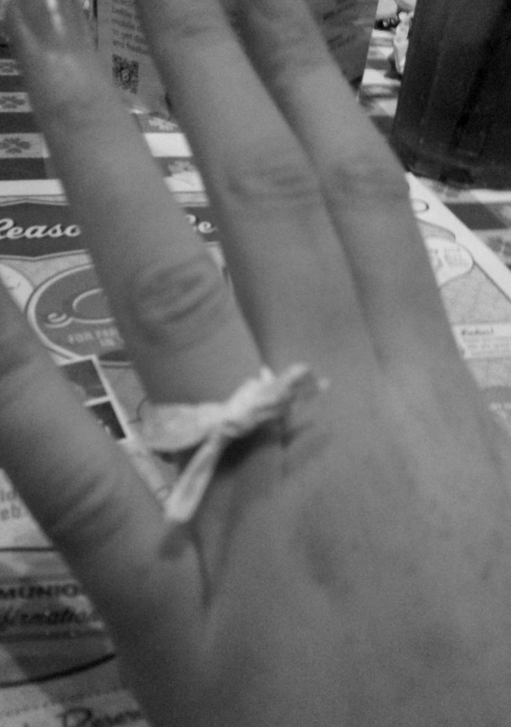 paper straw wrapper ring, the only thing I would need to say yes if he was the right man