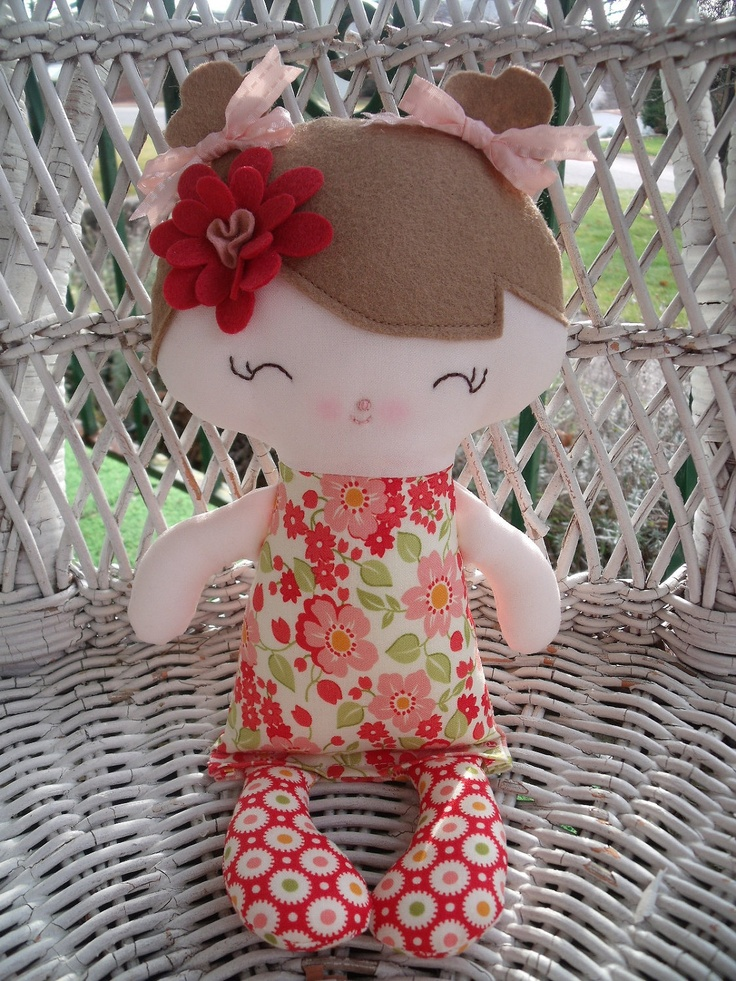 My friend Jill--a handmade cloth doll. $15.00, via Etsy.