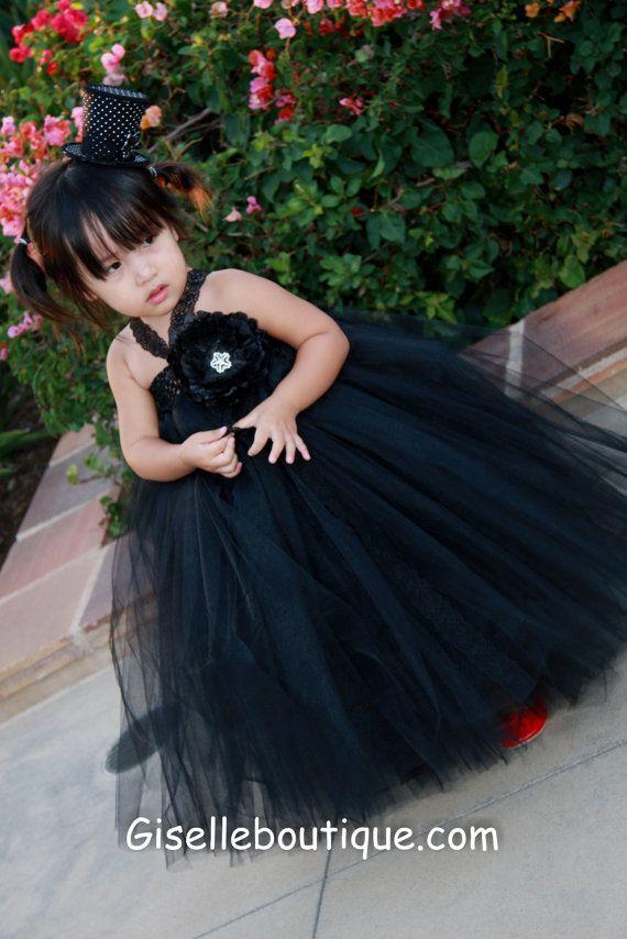 Black tutu, Dress robes and Girls dresses on Pinterest