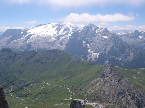 Marmolada from Pordoi summit